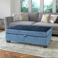 Antonio Velvet Upholstered Storage Ottoman