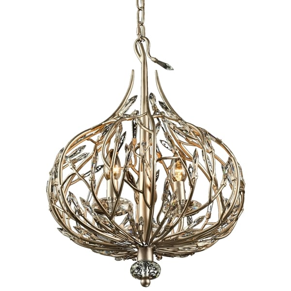 Varaluz Bask 3-Light Crystal Mini Pendant - Gold