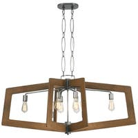 Varaluz Lofty 8-Light Oval Wheat Linear Pendant