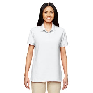 Dryblend Women's Double Pique Sport White Shirt