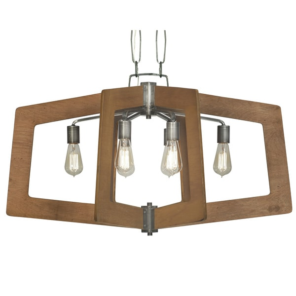 Varaluz Lofty 6-Light Oval Wheat Linear Pendant