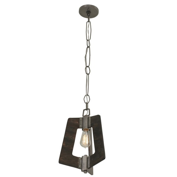 Varaluz Lofty 1-Light Faux Zebrawood Mini Pendant