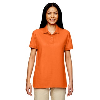 Dryblend Women's Double Pique Sport Safety Orange Shirt