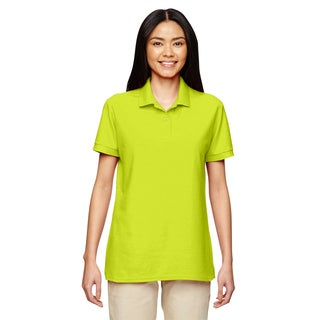 Dryblend Women's Double Pique Sport Safety Green Shirt