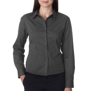 Whisper Women's Graphite Twill Dress Shirt