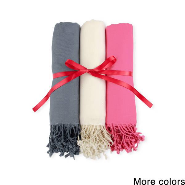Handmade Set of 3 Men's/ Women's Saachi Scarves (India)