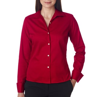 Whisper Women's Elite Twill Cardinal Dress Shirt