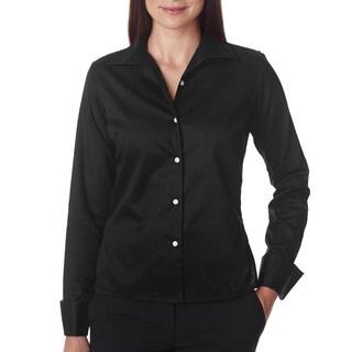 Whisper Women's Elite Black Twill Dress Shirt