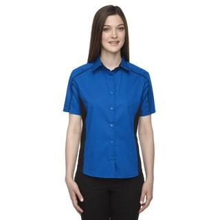 Fuse Women's True Royal 438 Cotton/Polyester Twill Colorblock Dress Shirt