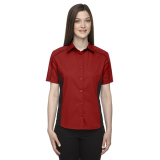 Fuse Women's Classic Red 850 Colorblock Twill Dress Shirt