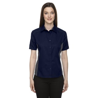 Fuse Women's 849 Classic Navy Twill Colorblock Dress Shirt