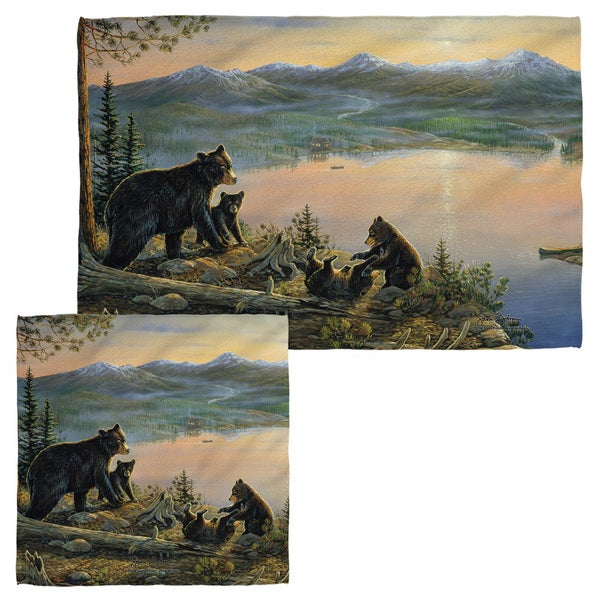 Wild Wings/Serenity At Twilight 2 Face/Hand Towel Combo