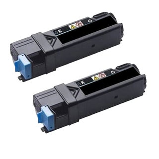 2PK Dell 2150 BK Compatible Black Toner Cartridge Dell 2150 2155 (Pack of 2)