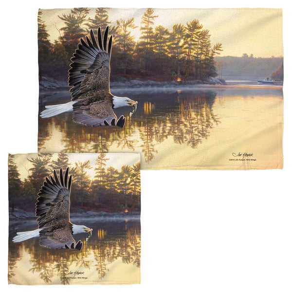 Wild Wings/Gone Fishing 2 Face/Hand Towel Combo