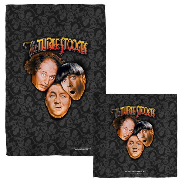 THREE STOOGES/STOOGES ALL OVER Face/Hand Towel Combo