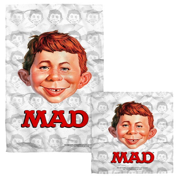 Mad/Alfred Head Face/Hand Towel Combo