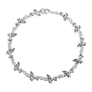 Flying Mythical Pegasus Link .925 Silver Bracelet (Thailand)