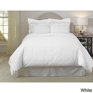 Pointehaven 620 Thread Count Long Staple Cotton Duvet Cover Set