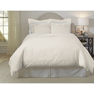 Pointehaven 620 Thread Count Long Staple Cotton Duvet Cover Set