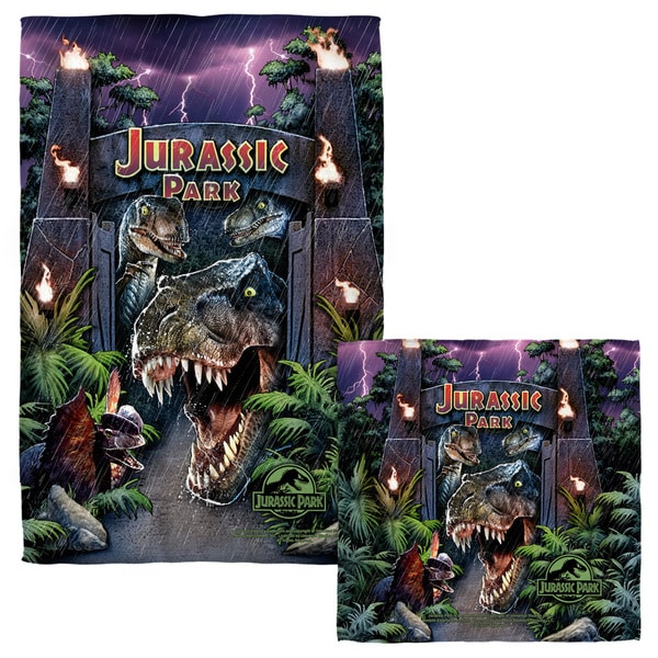 Jurassic Park/Welcome To The Park Face/Hand Towel Combo