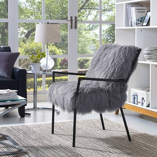 Lena Grey Sheepskin Chair