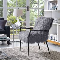 Lena Grey Sheepskin Chair