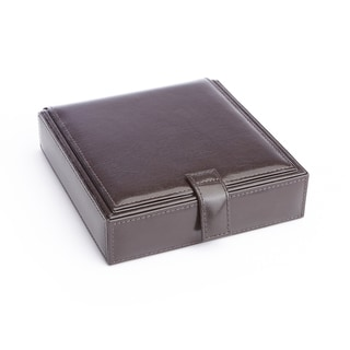 Ronce Leather Cufflink Watch Travel Case