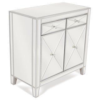 Mirrored 2-drawer Side Table Cabinet