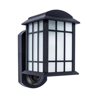 Maximus Craftsman Smart Security Metal and Glass Outdoor Wall Lantern