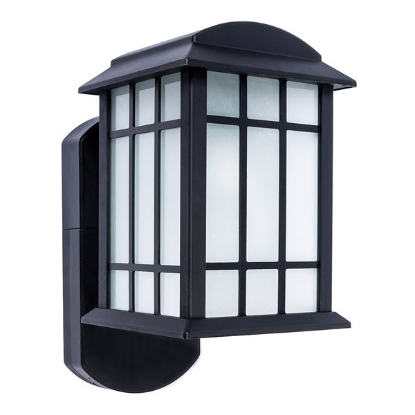 Maximus Smart Security Black Metal Glass Bluetooth Compatible Wall Lantern