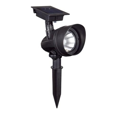 Duracell Black Plastic Solar Powered Outdoor LED Spot Lights (Set of 6)