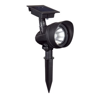 Duracell Solar Powered Black Outdoor LED Spot Lights (Pack of 6)