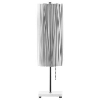 Lollipop Pleat Black Nickel Table Lamp