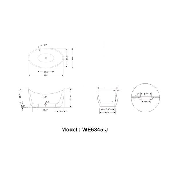 Shop Legion Furniture White Acrylic 69 Inch Freestanding
