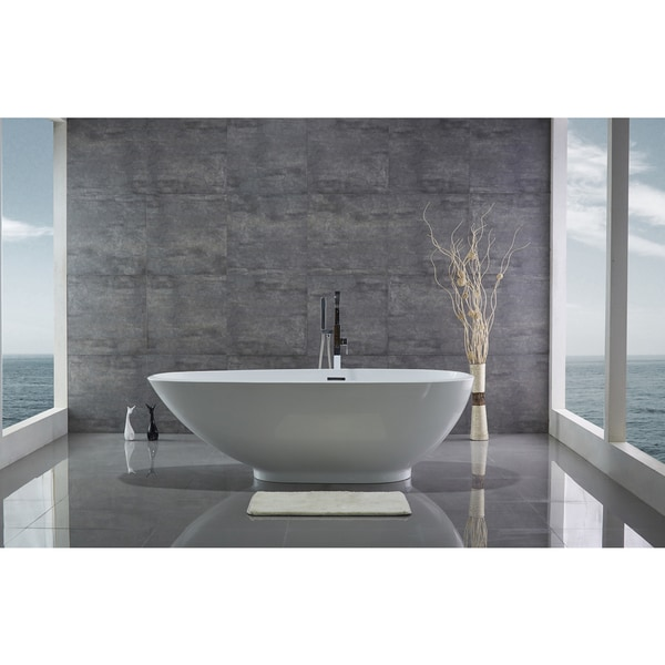 Legion Furniture 74 Inch Freestanding Bathtub Free Shipping Today Oversto