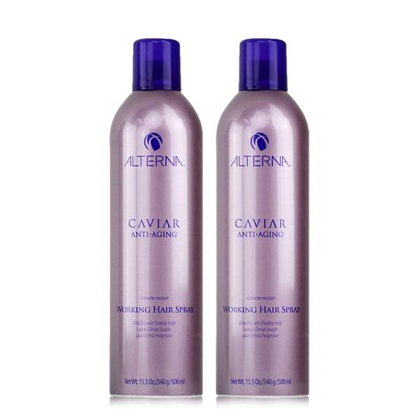 2c9014df3b15 Alterna Caviar Anti-Aging Working 15.5-ounce Hair Spray (Pack of 2)