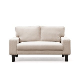 Modern Solid Color Fabric Loveseat