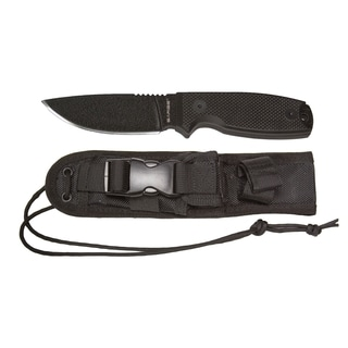 Sarge Panther Black-coated Stainless Steel 3.5-inch Tactical Fixed Blade