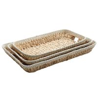 Gibson Dallington Woven 3-Piece Tray Set