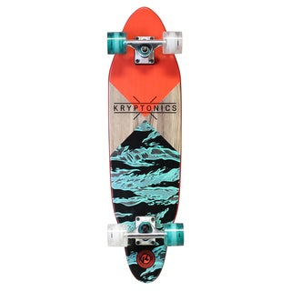 """Kryptonics 30-inch x 8-inch Cutaway Cruiser Skateboard - Blue - 30""""l x 8""""w"""