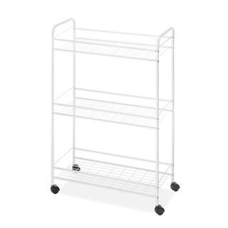 Whitmor 3-Tier Slim Household Cart White