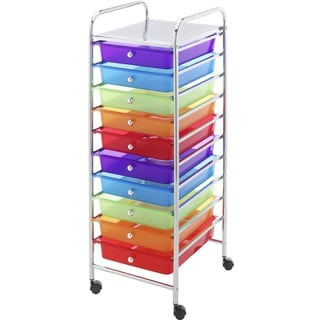 Whitmor 10-Drawer Multi-Color Cart