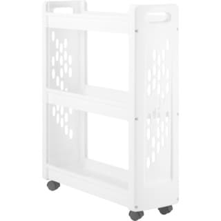 Whitmor 3-Tier Slim Laundry Cart White