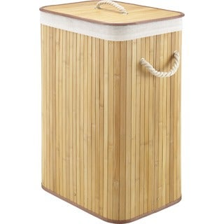 Whitmor Rectangular Bamboo Hamper Natural