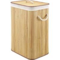 Whitmor Rectangular Bamboo Hamper Natural