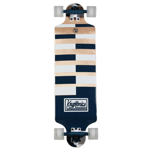 Kryptonics Drop-down Longboard 32-inches x 8-inches Complete Skateboard