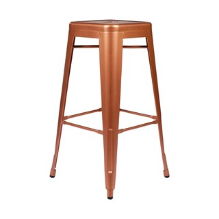 Metal Tolix-style Counter-height Copper Bar Stool