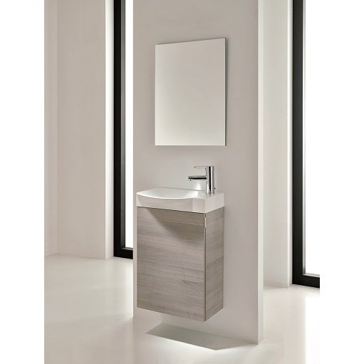 Charmant Eviva Action Modern Grey 18 Inch Wall Mount Bathroom Vanity With White  Integrated Porcelain