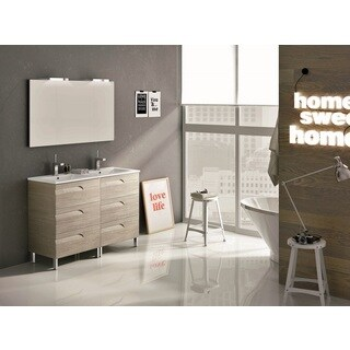 Eviva Vitale 48-inch Maple Modern Bathroom Vanity with White Integrated Porcelain Sink