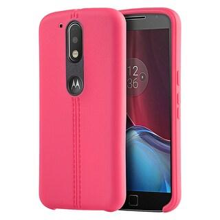 Motorola G4 / G4 PLUS Leather Finish TPU Slim Jacket Case